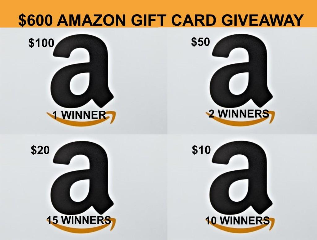 600 Amazon GC Giveaway